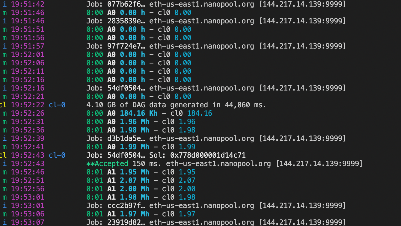Mining Ethereum on M1 Mac GPU